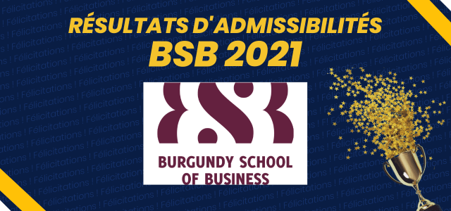 Résultats d'admissibilités BSB 2021