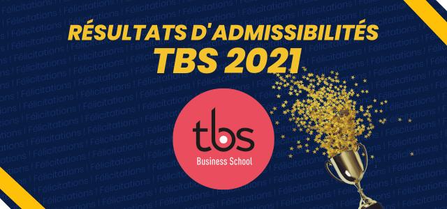 Résultats d'admissibilités TBS 2021