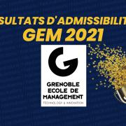 Résultats d'admissibilités GEM 2021