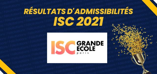 Résultats d'admissibilités ISC Paris 2021