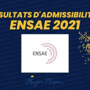 Résultats d'admissibilités ENSAE 2021