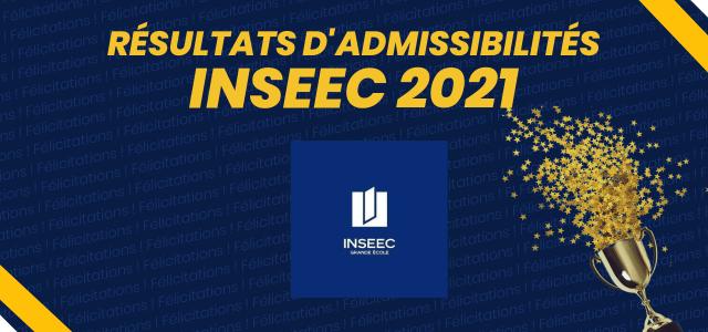 Résultats d'admissibilités INSEEC Grande Ecole 2021