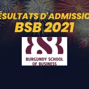 Résultats d'admission BSB 2021