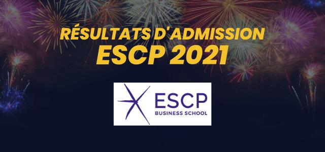 Résultats d'admission ESCP Business School 2021