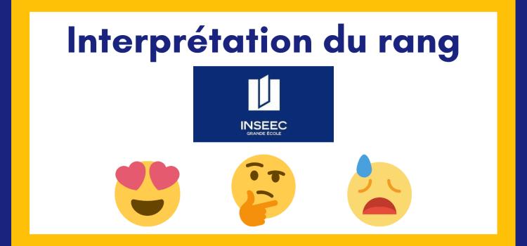 Interpréter son rang INSEEC Grande École 2021