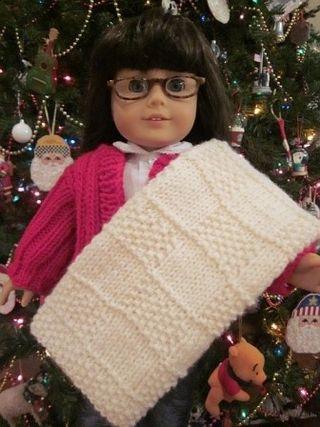 Major Knitters Boot Camp Free American Girl Doll Blanket