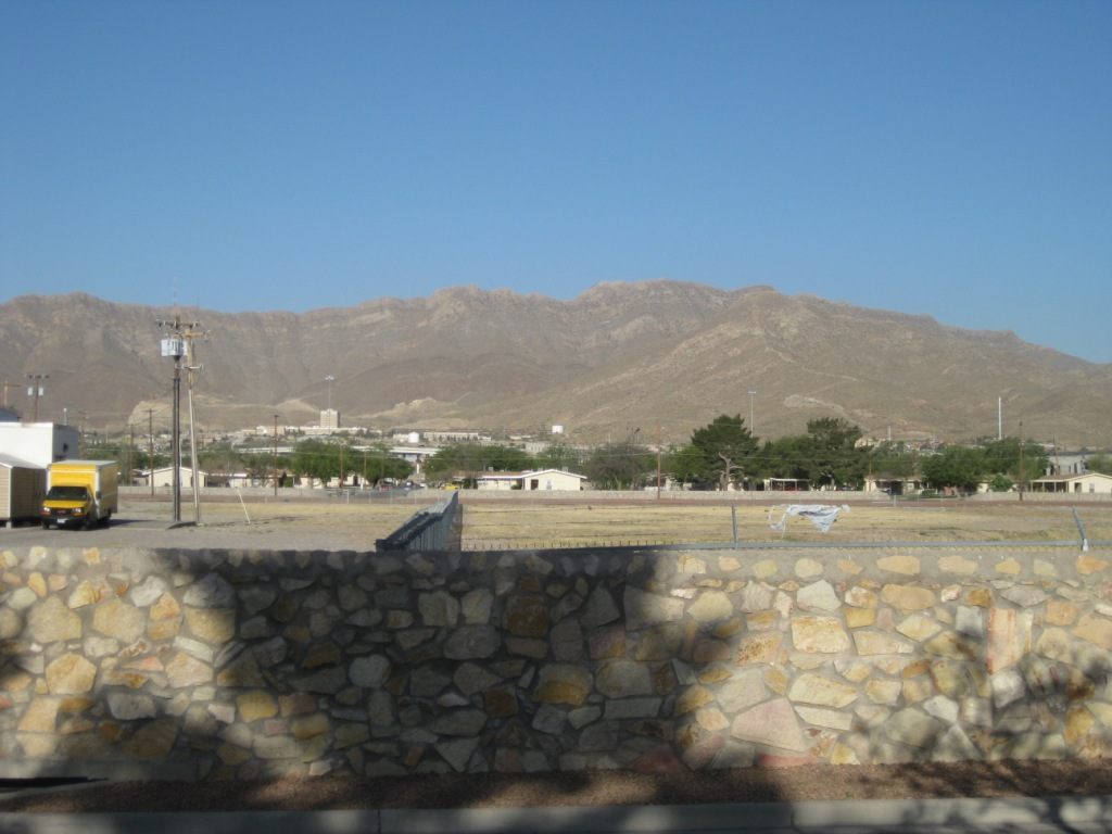 North Franklin Peak viewed from Ft. Bliss lodging