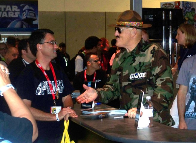 Sgt. Slaughter at the Hasbro Booth. Another pic for Matthew.