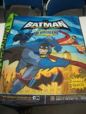 Batman: The Brave and the Bold swag bag that was handed out during registration