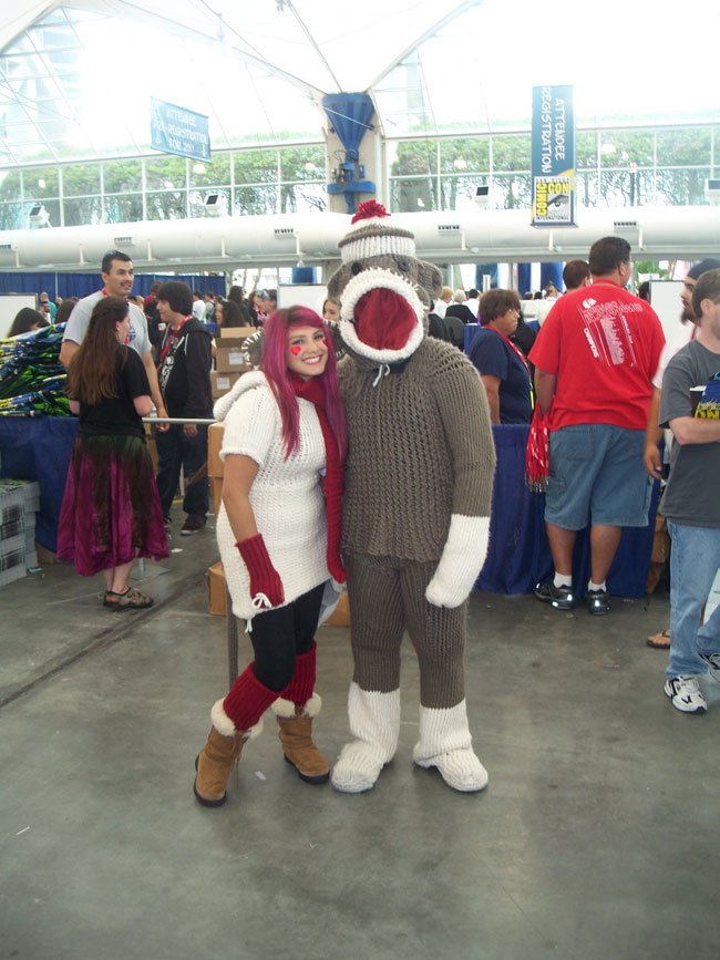 Hey, look! It's Sock Monkey