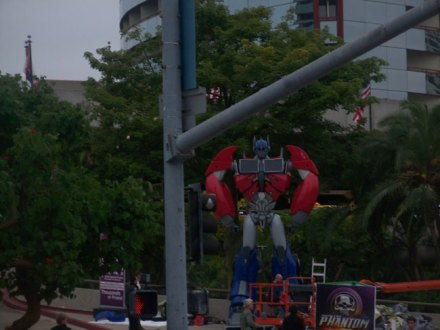Optimus Prime is waiting to roll out...