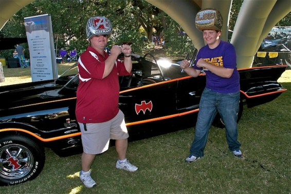 Alabama and LSU battle over Batmobile Tour