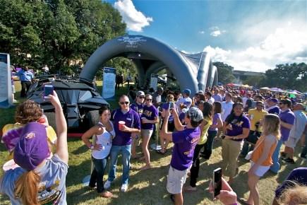 Batmobile Tour at Alabama-LSU game