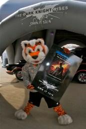 Bengals mascot Who Dey at Batmobile Tour