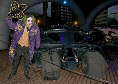 Joker visits Batmobiles at Superdome in New Orleans