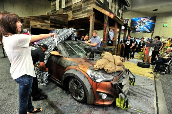 """The Walking Dead"" Zombie Survival Machine At The Future US Booth At Comic-Con"