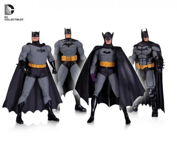 Batman-75th-Anniversary-Action-Figure-4-Pack-Hush-by-Jim-Lee-Batman-Arkham-Origins-New-Frontier-Darwyn-Cooke-and-First-Appearance-by-Bob-Kane-Available-October-2014