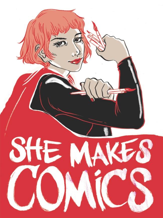 She Makes Comics Logo Medium