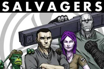 Wayne's Comics, Wayne Hall, Think Alike Productions, Salvagers, Bob Salley, George Acevedo, Abandoned Cargo, Kickstarter, Capt. Bill Roenick, AVRI, Brigby, Ty'R, Teagan
