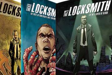 Wayne Hall, Wayne's Comics, Terrance Grace, Locksmith, Neo-Noir, mystery, fantasy, science fiction, Kickstarter, Silvio dB, Anderson Cabral, Detective Mick Fagan, Antiago, New York City, Lucero, Spanish Moss