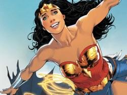 Wonder Woman, Diana, Superman, Batman, Gotham City, Krypton, Emma Peel, Avengers, I Ching, DC, Marvel, Captain Marvel, Batgirl, Supergirl, Greek gods, Zeus, Ares, Photon, Storm, George Perez, Brian Azzarello, Justice League of America,