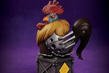 Secret Agent Poyo statue Skelton Crew Studio