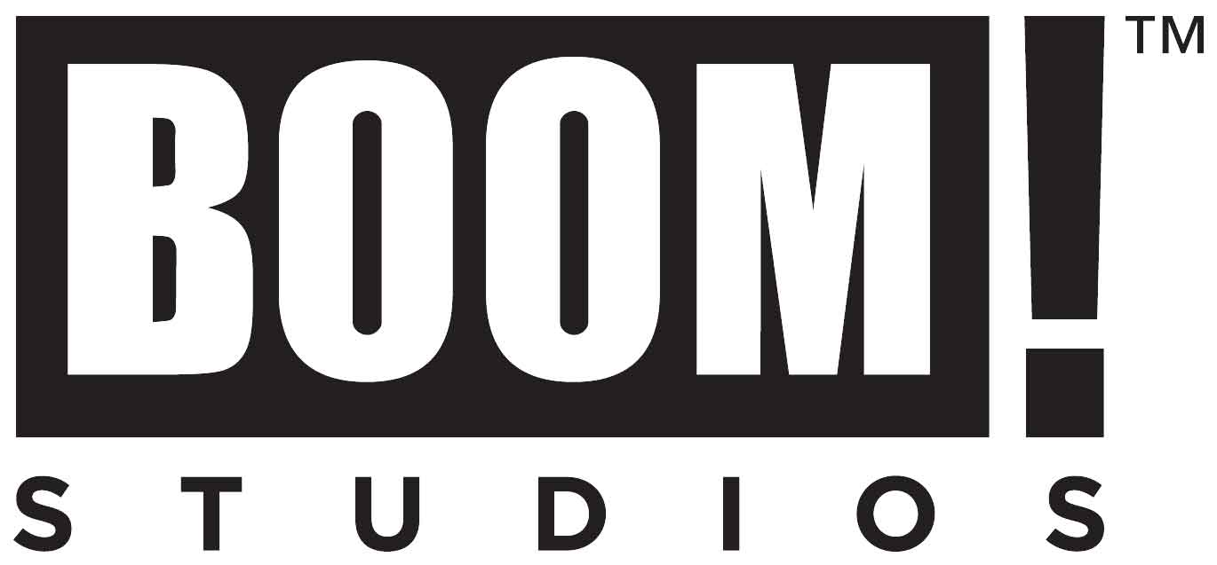 The logo of Boom! Studios, the published of many quality comics.