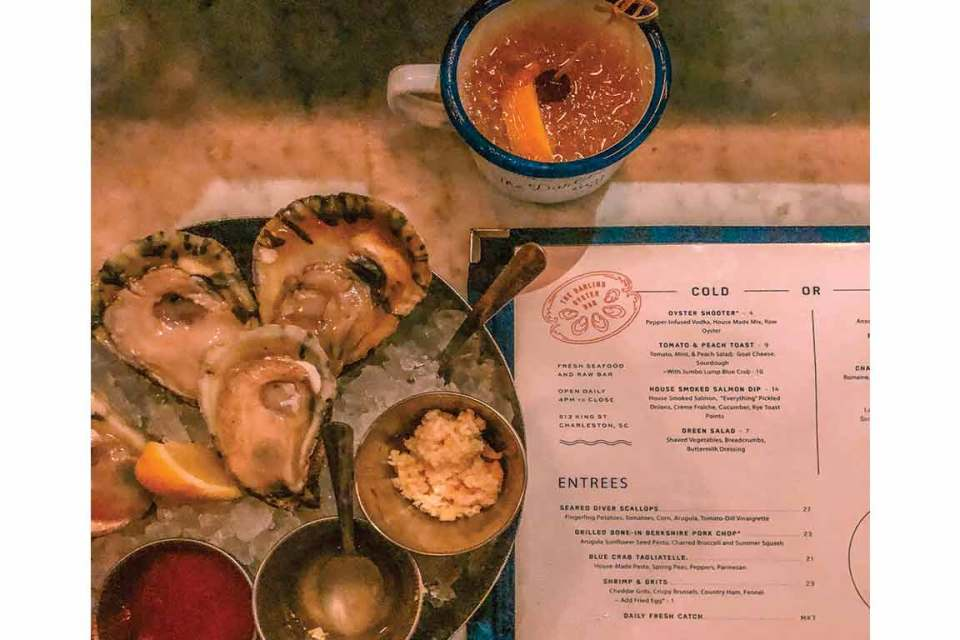 what to eat in charleston the darling oyster bar