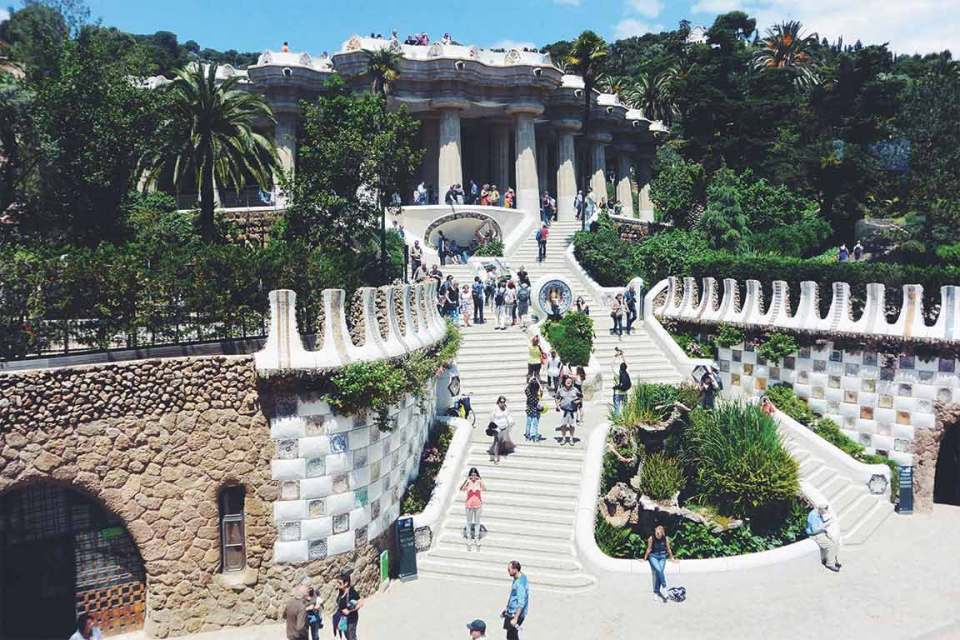 Best Things to do in Barcelona Park Guell Steps
