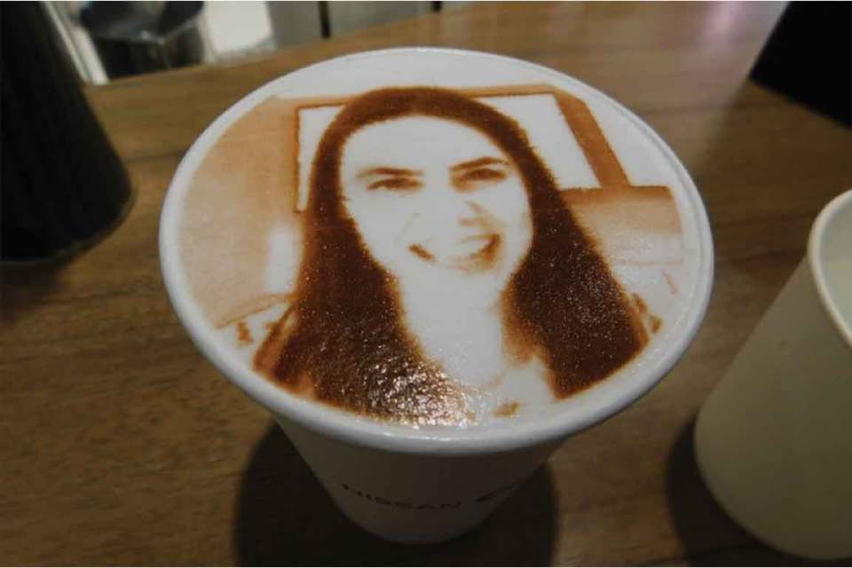 coffee with face in tokyo