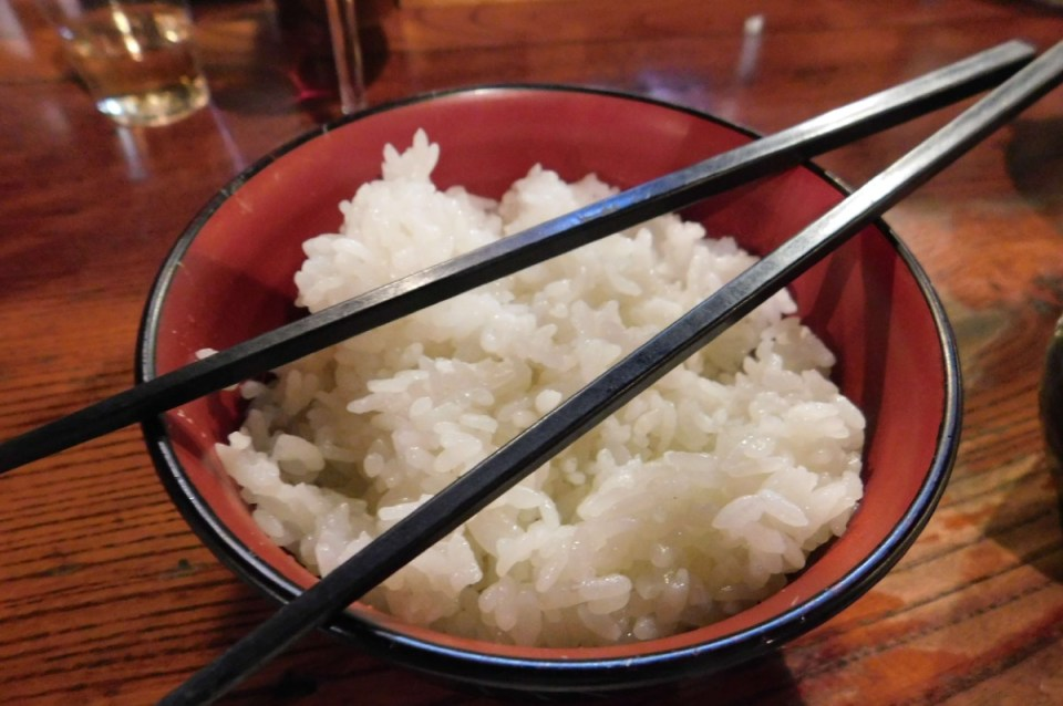 Japanese Yakitori with Steamed Rice