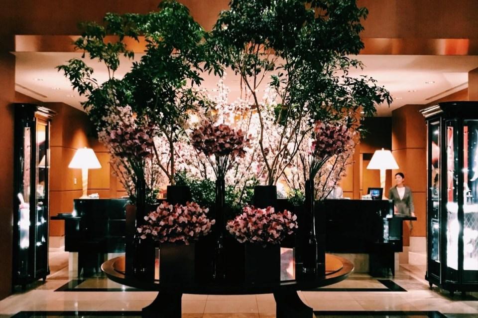 Flower Display Ritz Carlton Tokyo