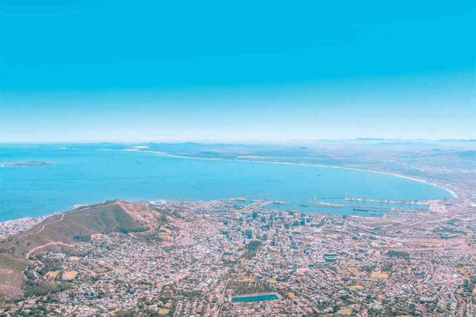 Cape town table mountain view