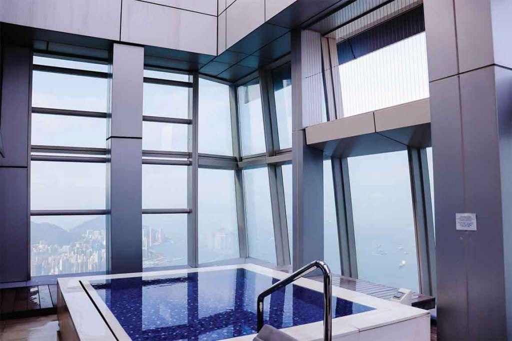 Ritz Carlton Hong Kong Rooftop Pool