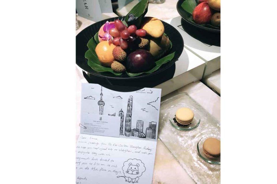 Ritz Carlton Shanghai Welcome Amenity