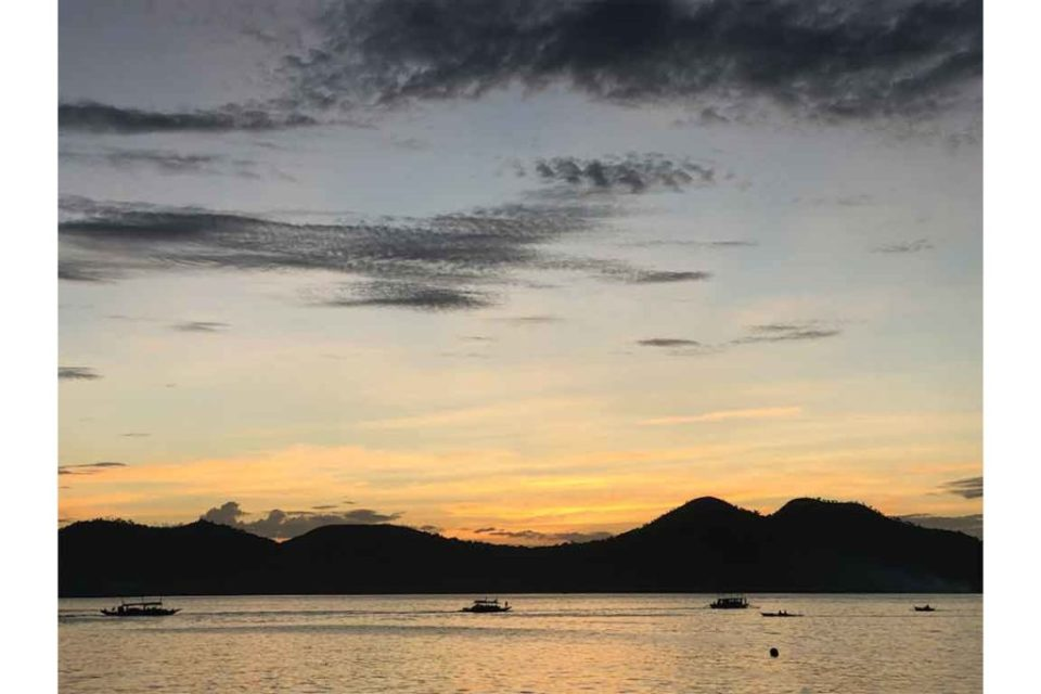 Sunset in Coron Philippines