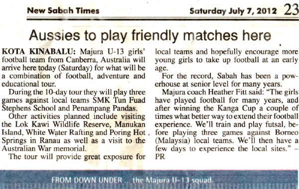 News about Borneo Tour in 2012