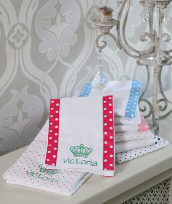 SwaddleDesigns® Baby Burpies-Polka Dots (Set of Two)
