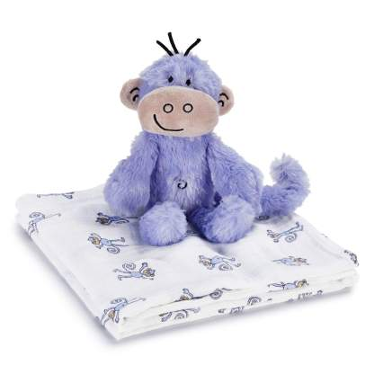 Monkey Swaddle + Cuddly Companion