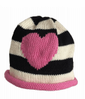 Heart Pink and Black non-personalized MJK beanies