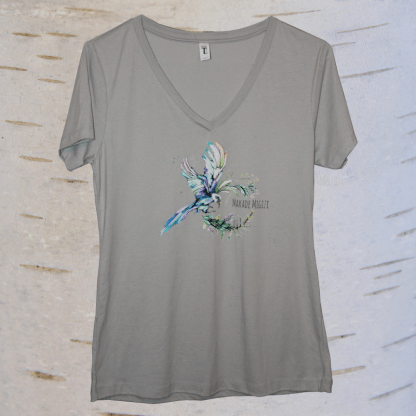 image of eagle v neck in grey