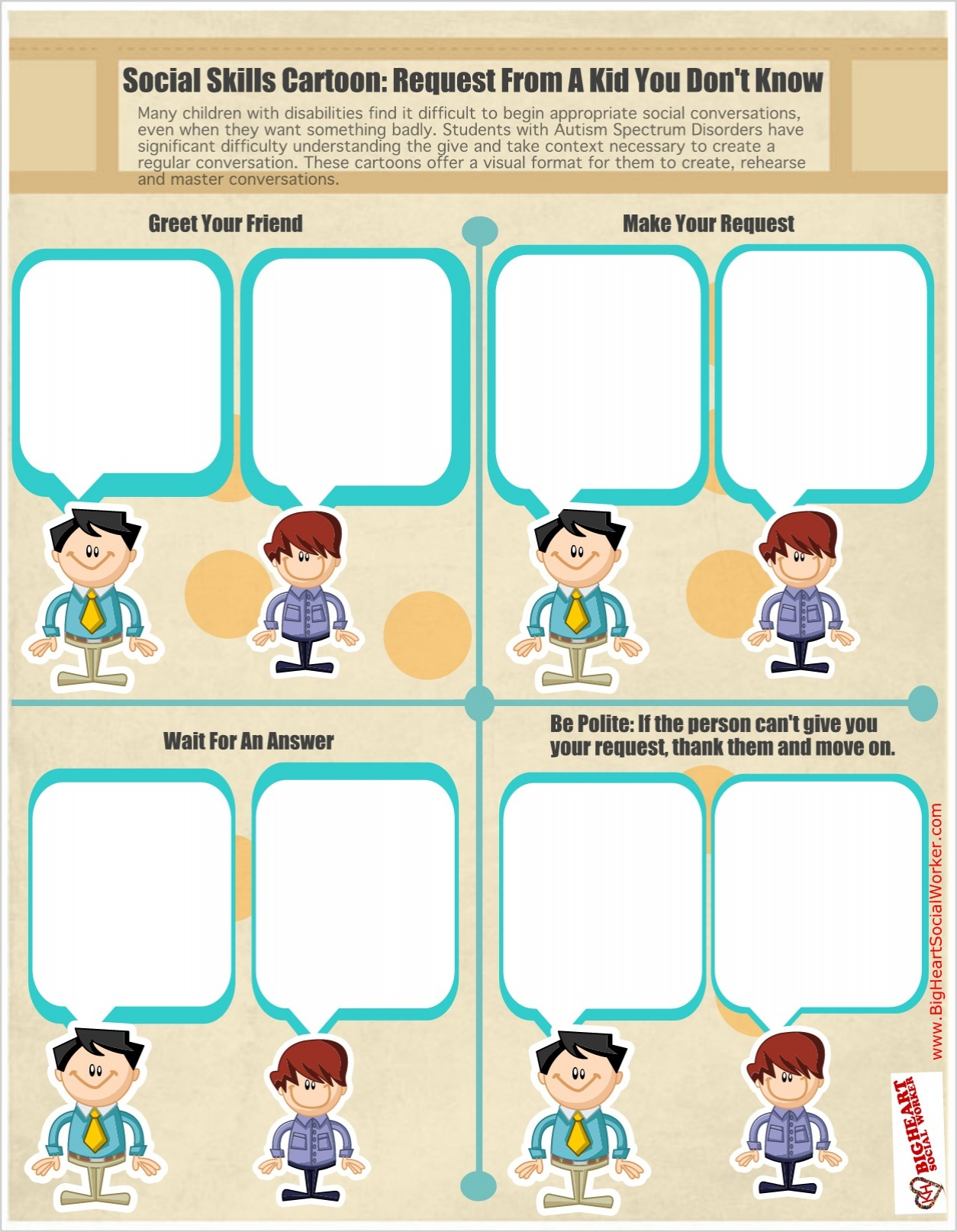 Social Skills Training Worksheets Free Worksheets Library Download