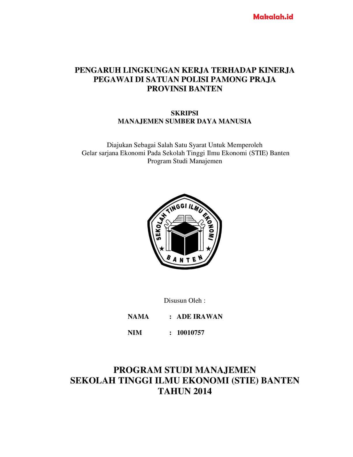 Tesis Manajemen Sdm : tesis, manajemen, Judul, Skripsi, Manajemen, Sumber, Manusia