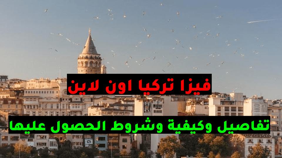 فيزا تركيا اون لاين تقديم فيزا تركيا اون لاين