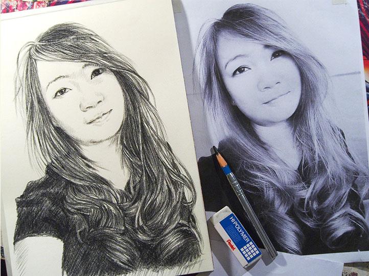 Drawing Portrait บริการวาดภาพเหมือน makamstories.com