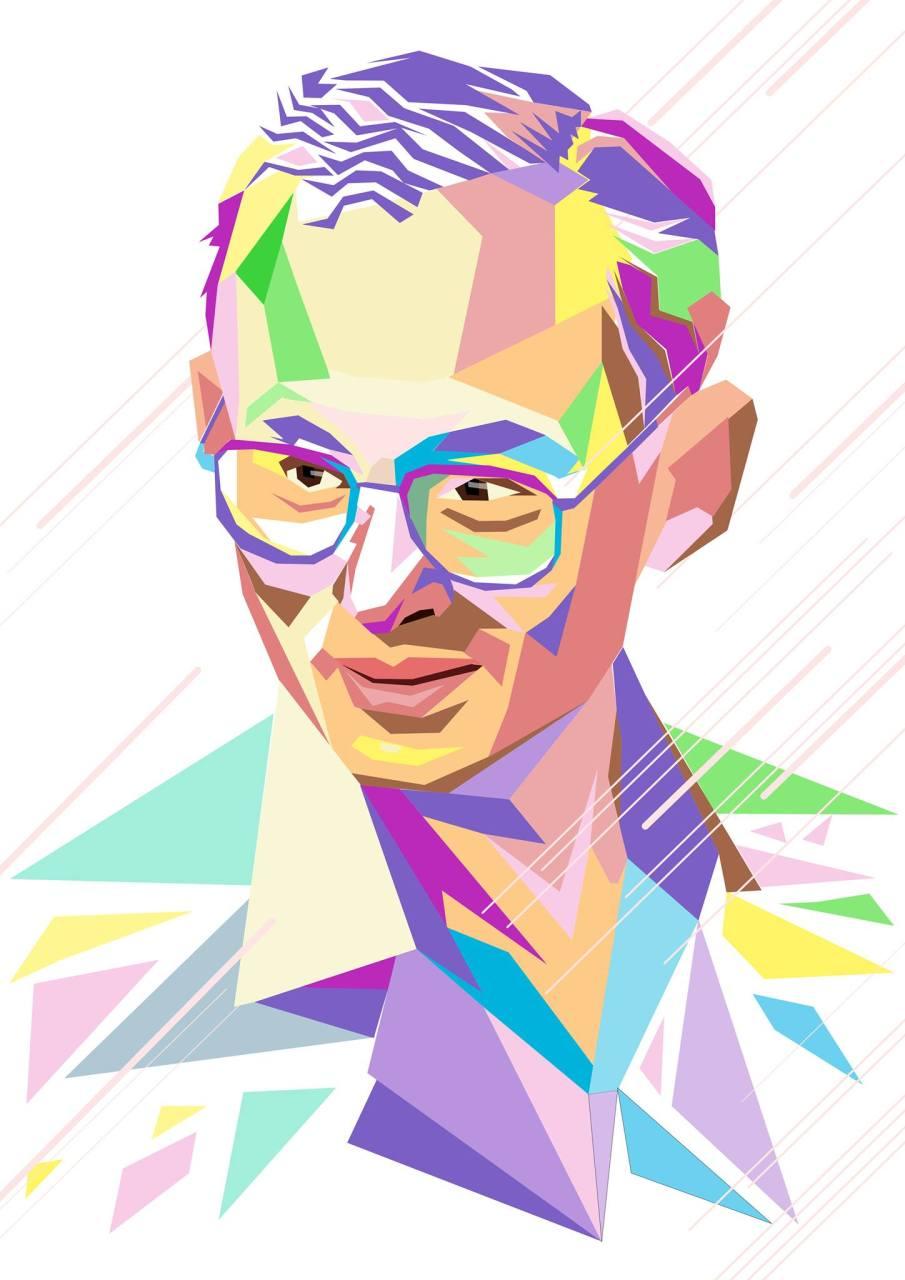 ภาพวาด Portrait แนว WPAP POP ART พระบรมฉายาสาทิสลักษณ์ พระบาทสมเด็จพระปรมินทรมหาภูมิพลอดุลยเดช รัชกาลที่ 9