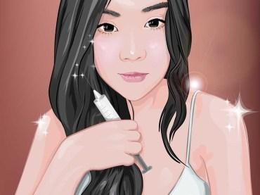 Illustration-Vector-Portrait-Girl-ภาพวาดสไตล์เวคเตอร์ด้วยโปรแกรมกราฟฟิค