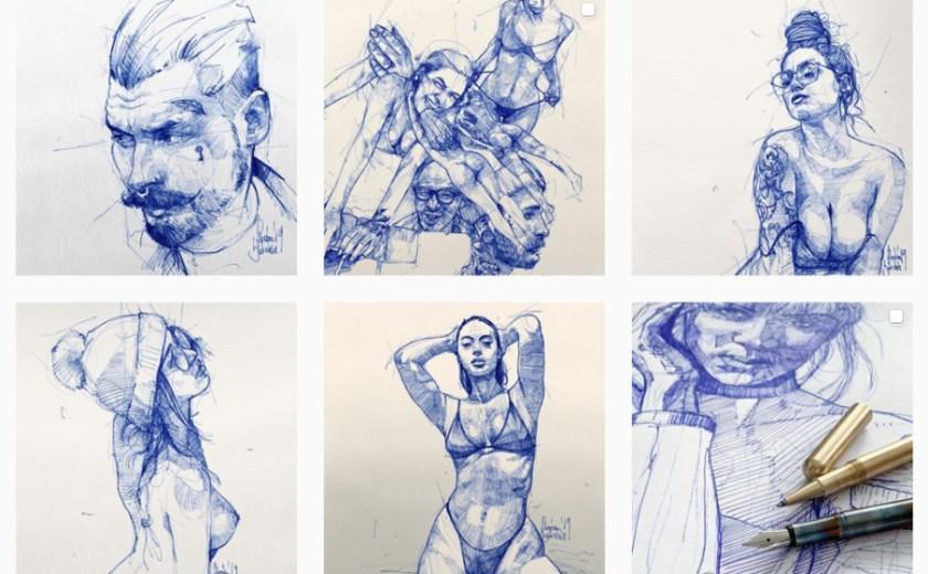 Flo Beierlein ศิลปินวาดภาพเหมือนด้วยปากกาลูกลื่น