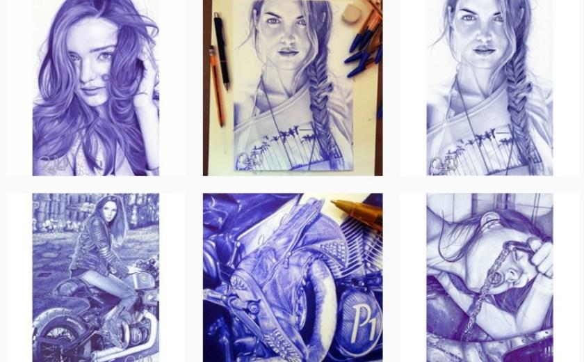 Rafael Augusto ศิลปินวาดภาพเหมือนด้วยปากกาลูกลื่น