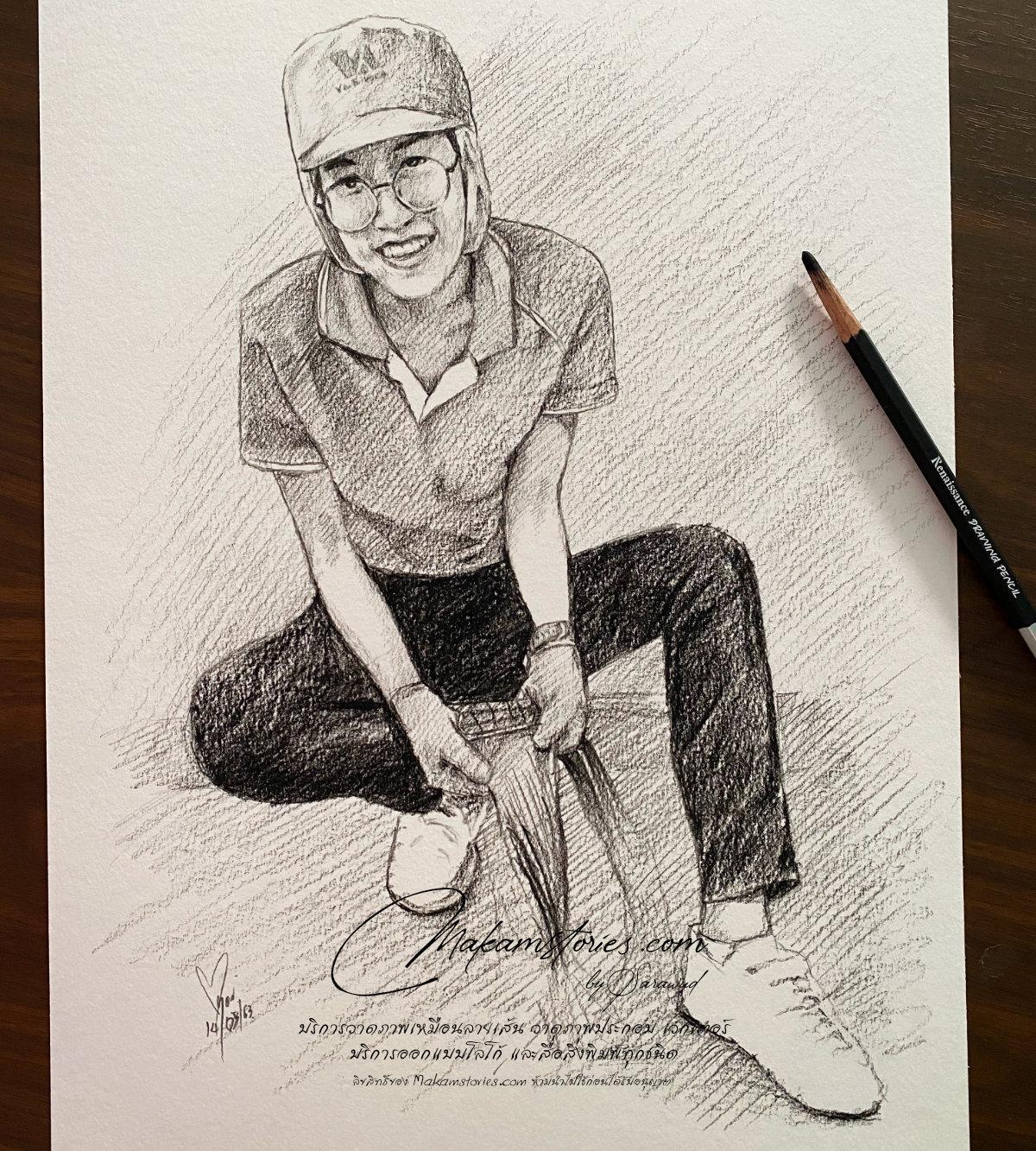 วาดภาพเหมือนลายเส้นดินสอ ภาพเหมือนดรออิ้ง Drawing Portrait